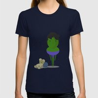 My Angry Hero! Womens Fitted Tee Navy SMALL