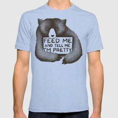 Feed Me And Tell Me I'm Pretty (Yellow) Mens Fitted Tee Tri-Blue SMALL