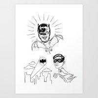 Holy Boastful Bat-man! Art Print