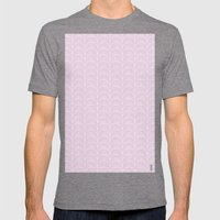 Art Deco Lavender Fields… Mens Fitted Tee Tri-Grey SMALL
