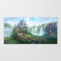 Epic Fantasy Castle  Canvas Print
