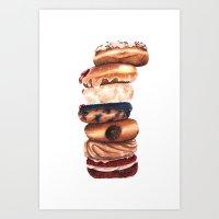 Donuts! Art Print
