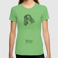 No.4 Fashion Illustration Series Womens Fitted Tee Grass SMALL
