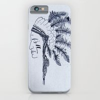 native american iPhone & iPod Cases featuring Native American by Anna Flowers