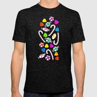 Holiday Sweets - Night Mens Fitted Tee Tri-Black SMALL