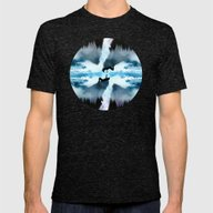 Two Worlds One Heart Mens Fitted Tee Tri-Black SMALL