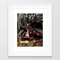The Dragon's Cave Framed Art Print