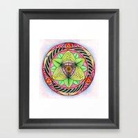 Sun/flower Mandala Framed Art Print