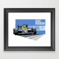 Keke Rosberg - 1985 Detroit Framed Art Print