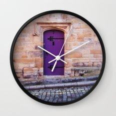 Purple Door Wall Clock