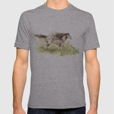 Running Horse Mens Fitted Tee Athletic Grey SMALL