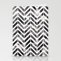 Brush Chevron Stationery Cards