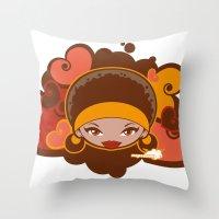 Bee-J Color Throw Pillow