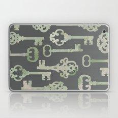 Skeleton Key Pattern in Gray Laptop & iPad Skin