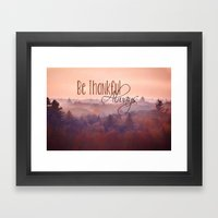 Give Thanks Always - Aut… Framed Art Print