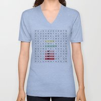 Word Search II Unisex V-Neck