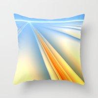 The Blinding Light of Day Throw Pillow