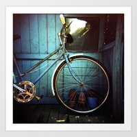 Bluebell The Blue Bicycl… Art Print