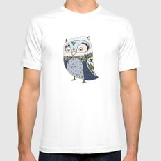 Counting Sheep SMALL White Mens Fitted Tee