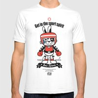 Love Sports_BOXING Mens Fitted Tee White SMALL