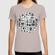 Fall Pattern Womens Fitted Tee Cinder SMALL