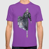 leather & ballet skeleton Mens Fitted Tee Ultraviolet SMALL