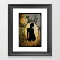 Oval Framed Art Print
