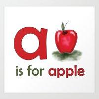 A Is For Apple, Children… Art Print