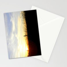 Sunset Behind the Fence Stationery Cards