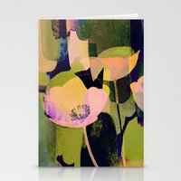 3 Abstract Flowers  Http… Stationery Cards