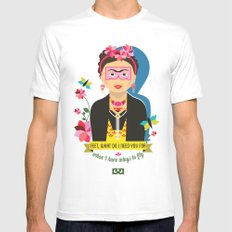 Frida  SMALL White Mens Fitted Tee