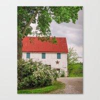 Barn At The Farm Canvas Print
