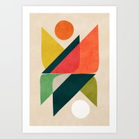 Reflection (of time and space) Art Print