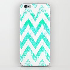 mint chevron iPhone & iPod Skin