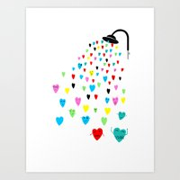 Love Shower Art Print
