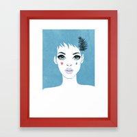 Сrying girl Framed Art Print