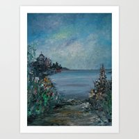 Cathedral By The Sea Art Print