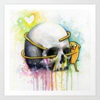 Jake And Skull Art Print