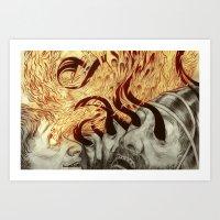 Elisha Blinds Arameans Art Print
