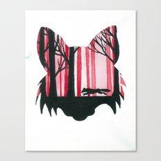 Fox Animal Silhouette Painting Canvas Print