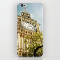 Clock Tower Behind Tree … iPhone & iPod Skin