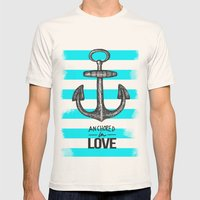 Anchored // Love Mens Fitted Tee Natural SMALL
