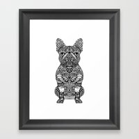 Mandala Frenchie Framed Art Print