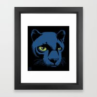 Black Panther Head Framed Art Print