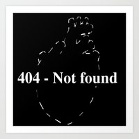 404 - Not found Art Print
