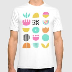 SIMPLE GEOMETRIC 001 White Mens Fitted Tee SMALL