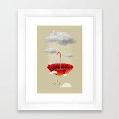 Saving the rain Framed Art Print