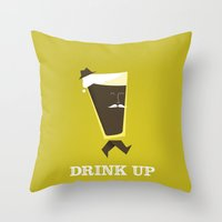 Drink Up Throw Pillow