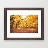 New York City Autumn Framed Art Print
