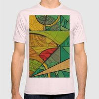 Tropical Farm Mens Fitted Tee Light Pink SMALL